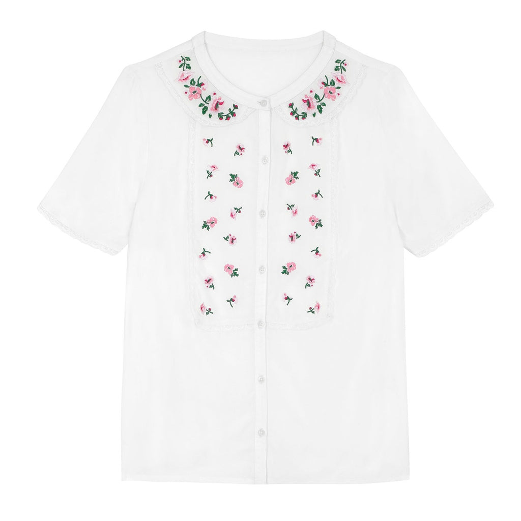Cath Kidston Embroidery Ivory Blouse