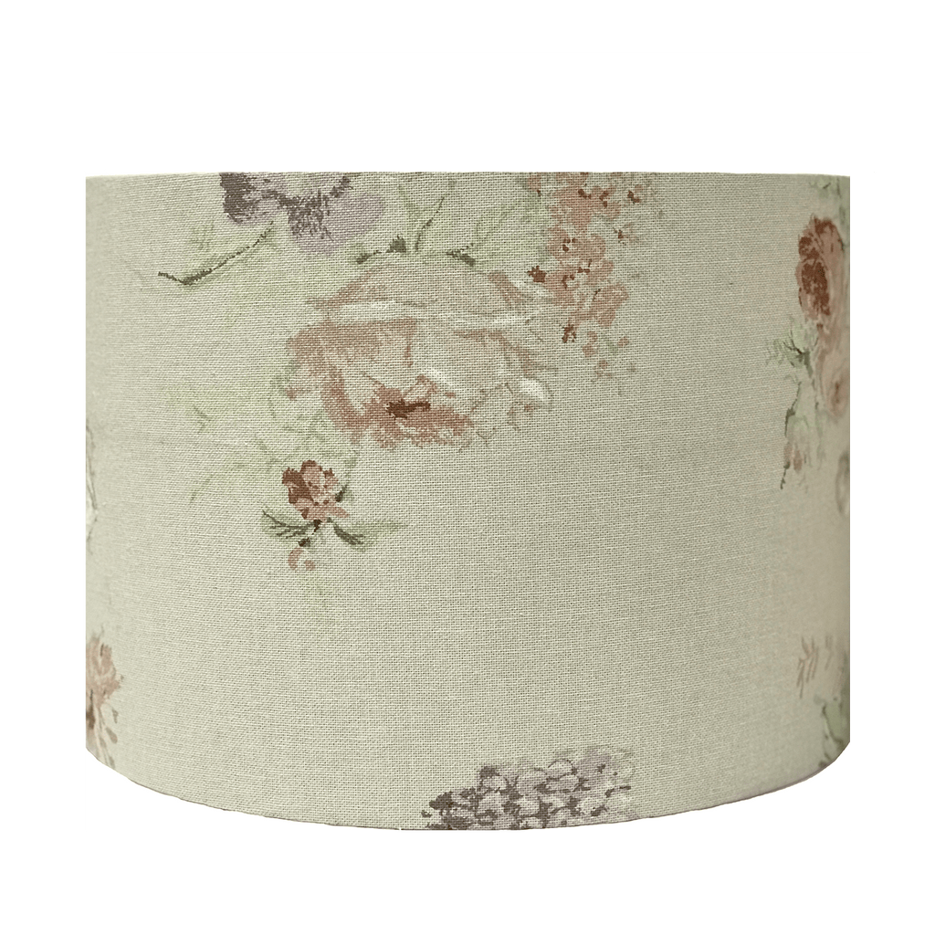 Medium Lampshade in Annie Sloan Faded Roses Fabric