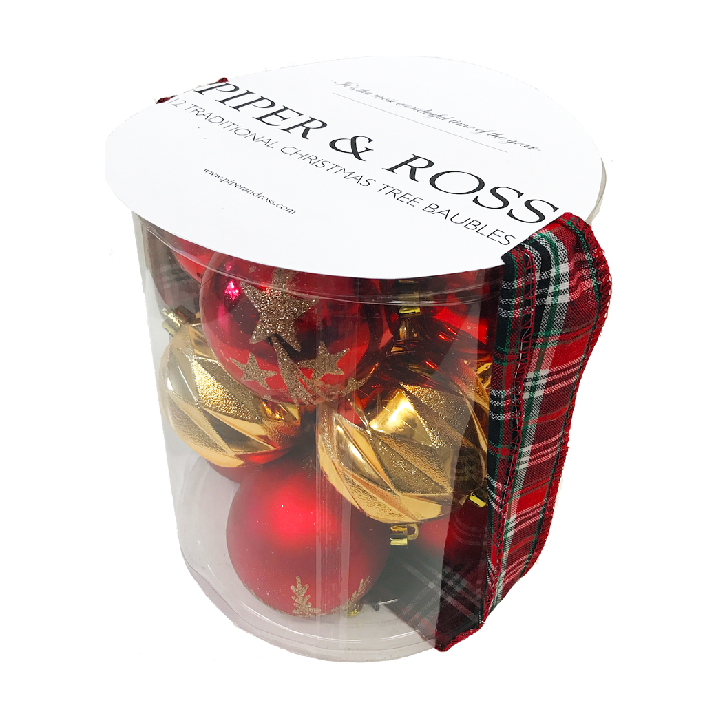 Piper & Ross Traditional Bauble Pack of 12