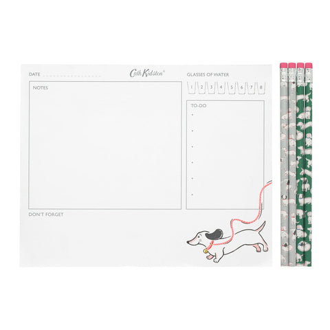 Cath Kidston Mono Dog Meal Planner & Pencils