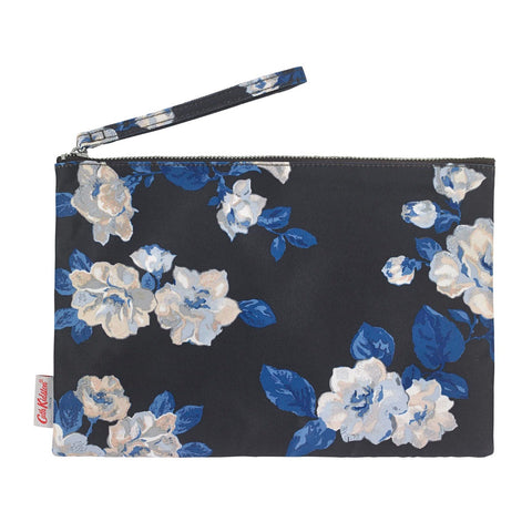 Cath Kidston Black Crescent Rose Large Pouch
