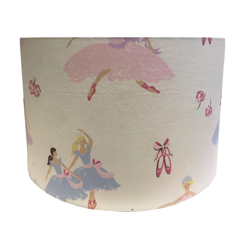Large Lampshade in Laura Ashley Ballerina Fabric.