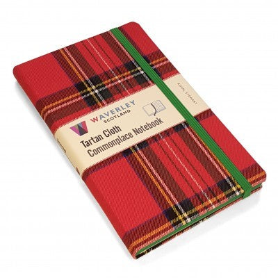 Royal Stewart Tartan Cloth Large Notebook