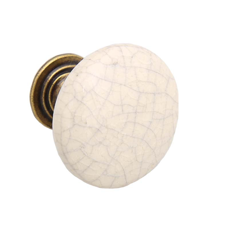Cracked Ceramic Knob Round