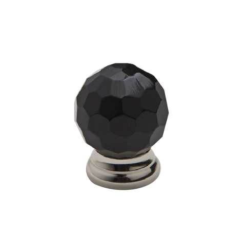 Black faceted Knobs