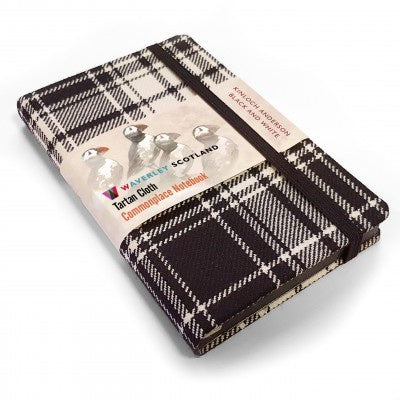 Black & White Tartan Cloth Commonplace Notebook