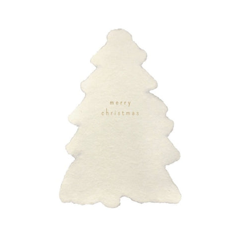 Christmas Tree Handmade Paper Notelet