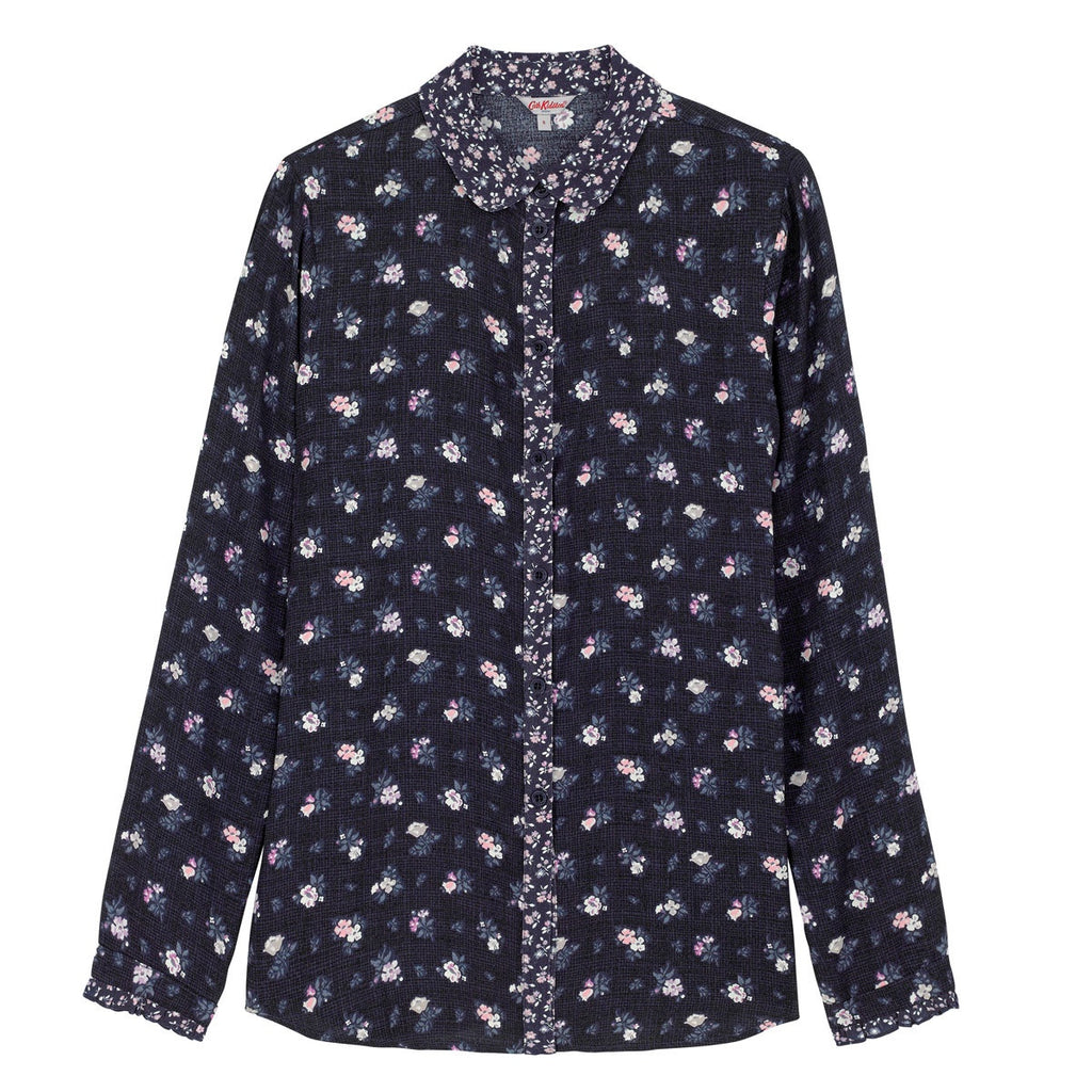 Cath Kidston Henley Ditsy Crepe Shirt