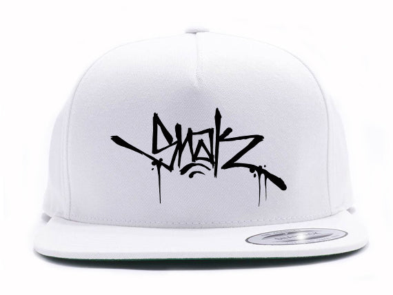 Snak Tag Snapback Hat (White) - Snak The Ripper