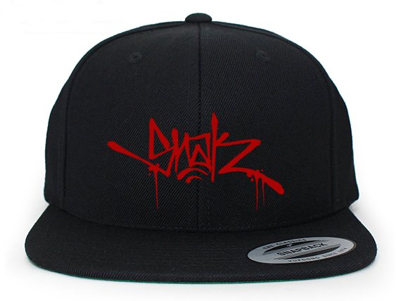 Snak Tag Snapback (Red on Black)