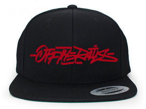 Off The Rails Snapback (Red) - Snak The Ripper