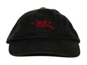 Snak Tag Dad Hat (Red on Black)