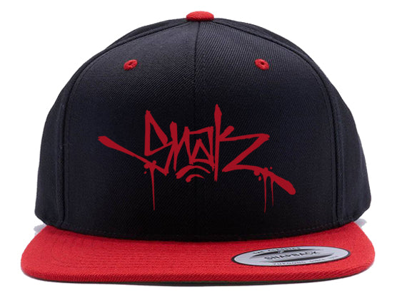 Snak Tag - Red & Black Snapback
