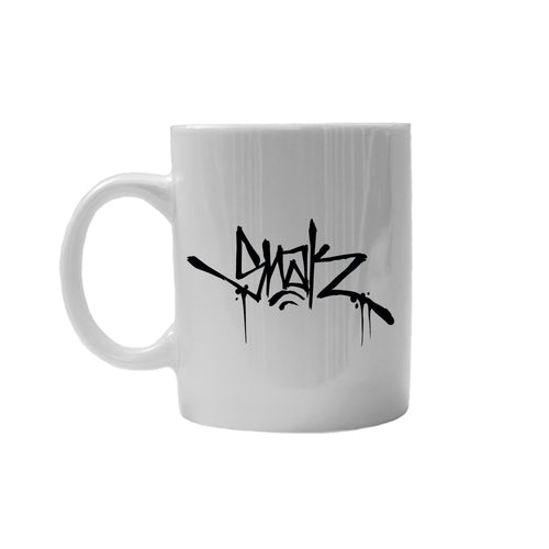 SNAK Coffee Cup - Glossy White w/ Black Logo - Snak The Ripper