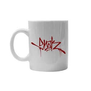 SNAK Coffee Cup - Glossy White w/ Red Logo