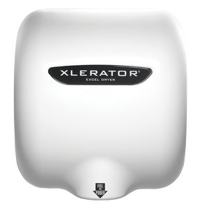 XLERATOR Hand Dryer Model XL-W White Epoxy Paint Front View