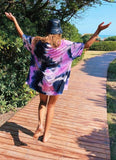 MAXI VESTIDO STEVIE - PINK & PURPLE BATIK