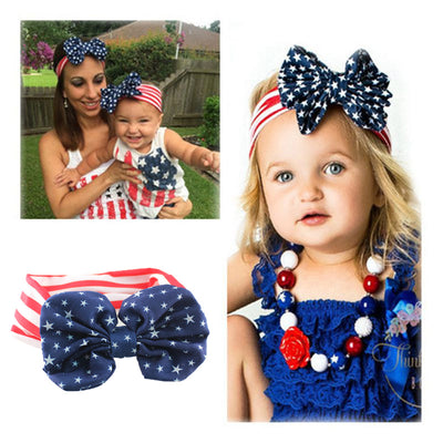 Stars and Stripes Matching Patriotic Headbands