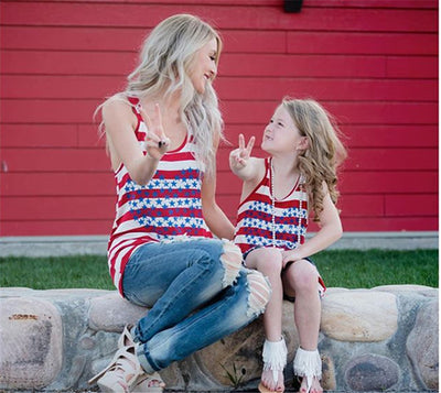 USA Stars & Stripes Heart Matching Shirts