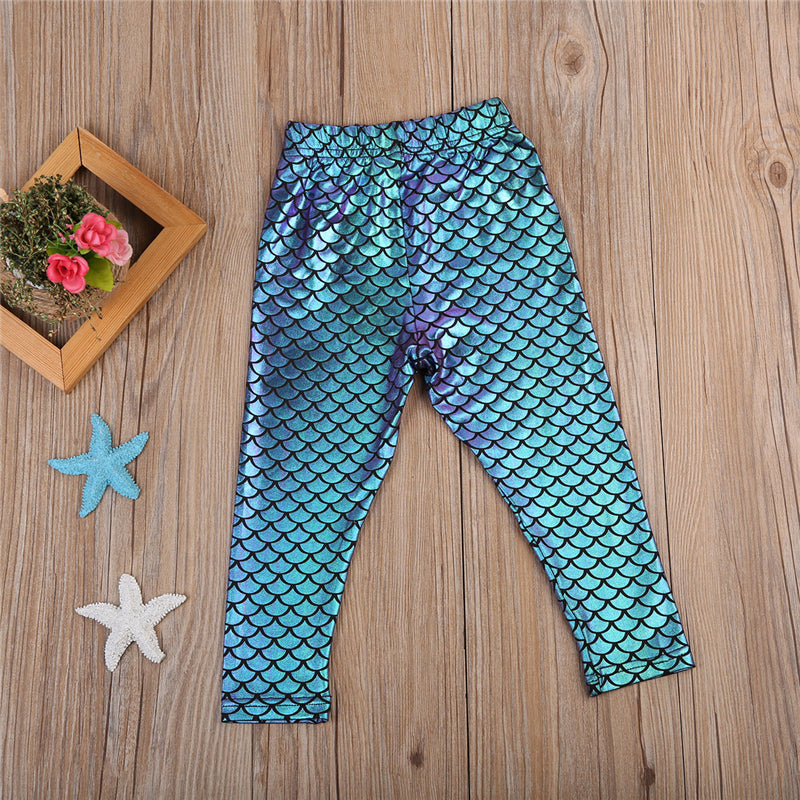 4-Tone Shimmering Mermaid Leggings