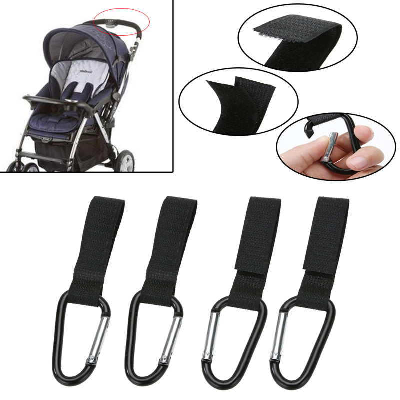 4pc Heavy Duty Stroller Hooks