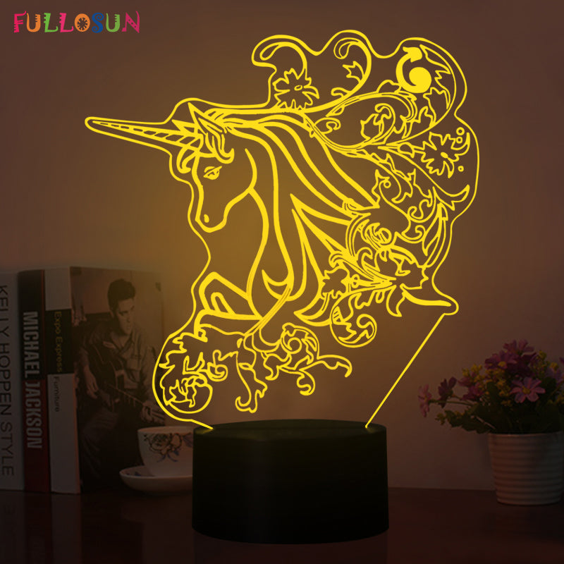 Elegant LED Unicorn Night Light