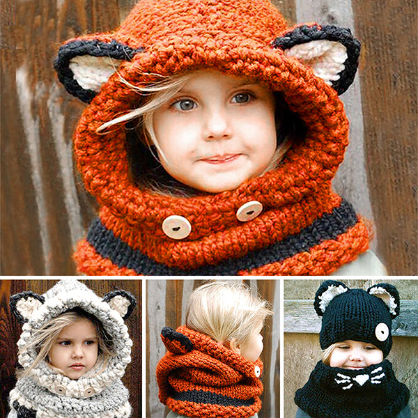 Hand Knitted Animal Scarf Cowls