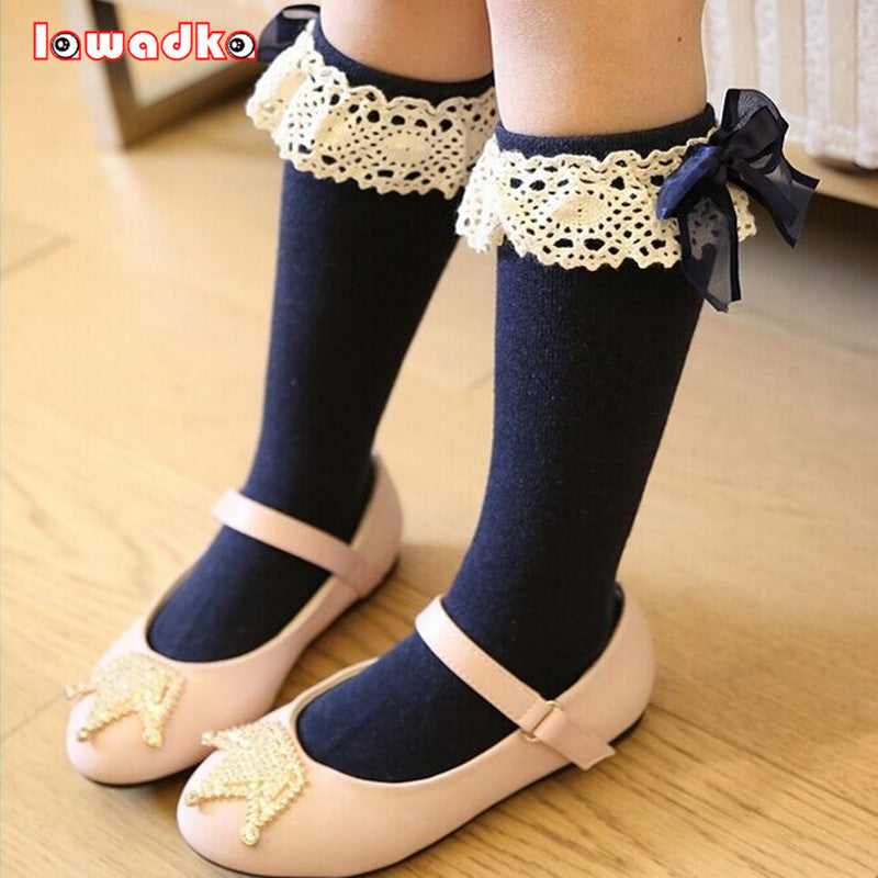 40c9598ab94 Princess Knee High Socks with Lace - Essentials For Mom
