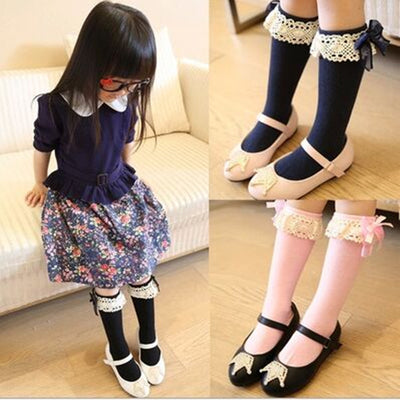 Princess Knee High Socks with Lace
