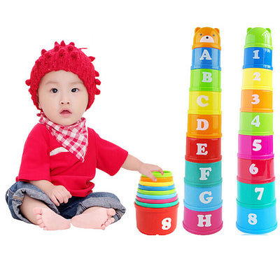 Colorful Educational Stacking Cups
