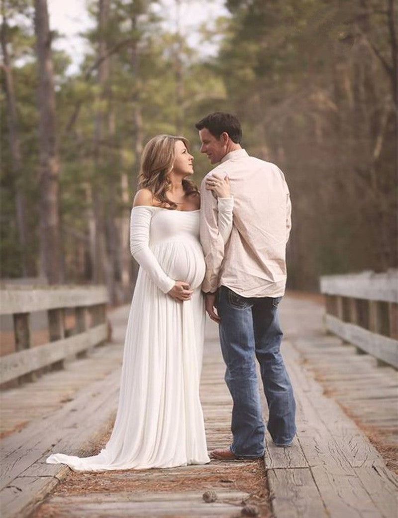 Le Couple Chiffon Maxi Maternity Gown