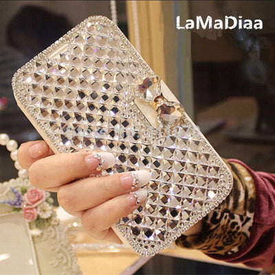 Luxury Rhinestone Diamond Leather Samsung Phone Case