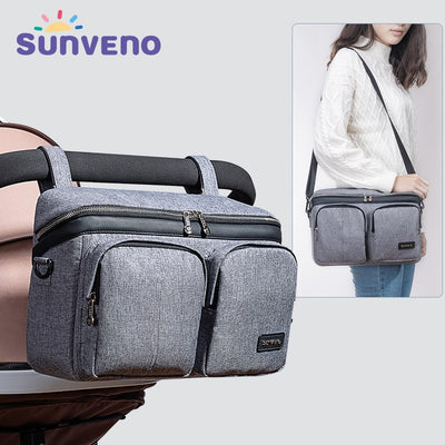SUNVENO Diaper Bag For Baby Stuff Nappy Bag Stroller Organizer Baby Bag Mom Travel Hanging Carriage Pram Buggy Cart Bottle Bag|Diaper Bags|Mother & Kids
