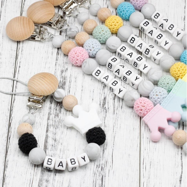 Customizable Baby Pacifier Clip