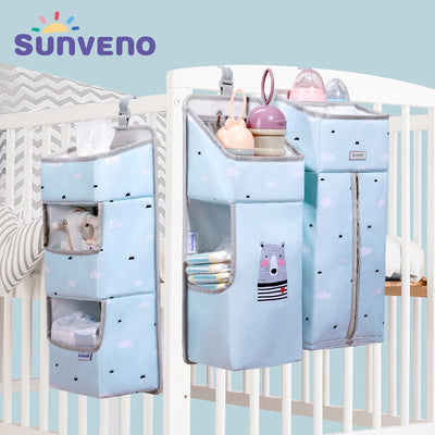 Sunveno Baby Storage Organizer Crib Hanging Storage Bag Caddy Organizer for Baby Essentials Bedding Set Diaper Storage Bag|Bedding Sets|Mother & Kids