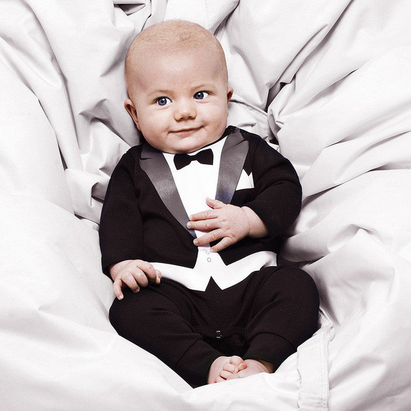 Gentleman Tux and Bowtie Romper