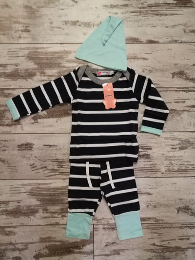 Blue and White 3pc Snug Body Suit