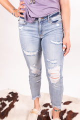 Vacation Splatter Judy Blue Denim
