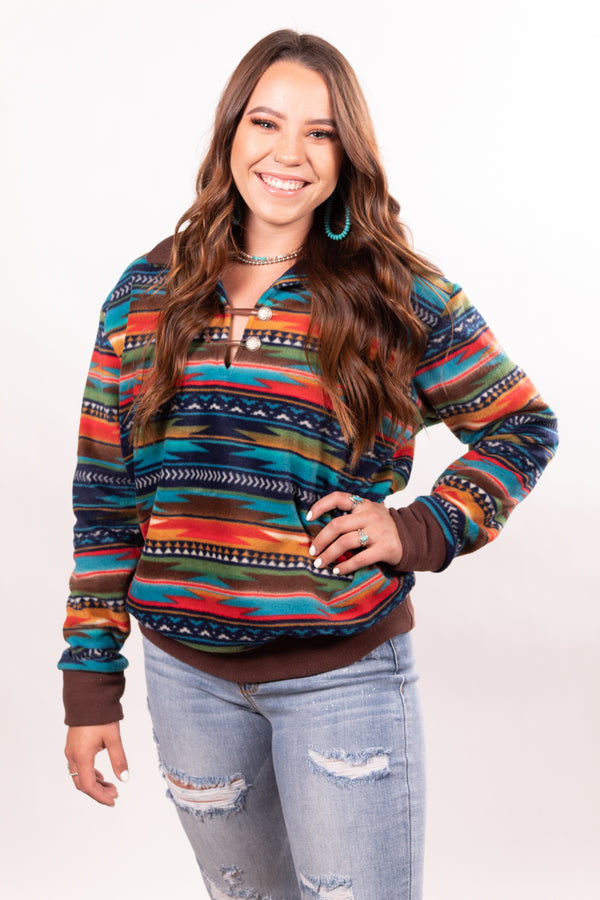 Aztec Dreamin' Fleece Pullover