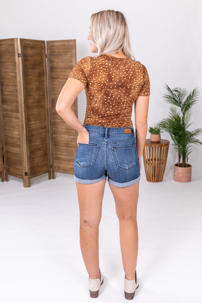 Ostrich Short Sleeve Body Suit Top