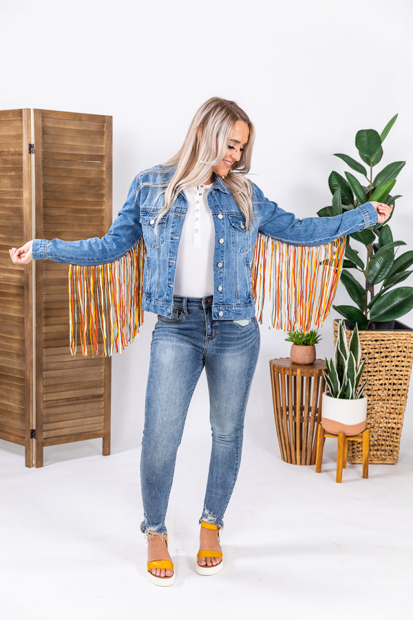 What The Fringe Denim Jacket