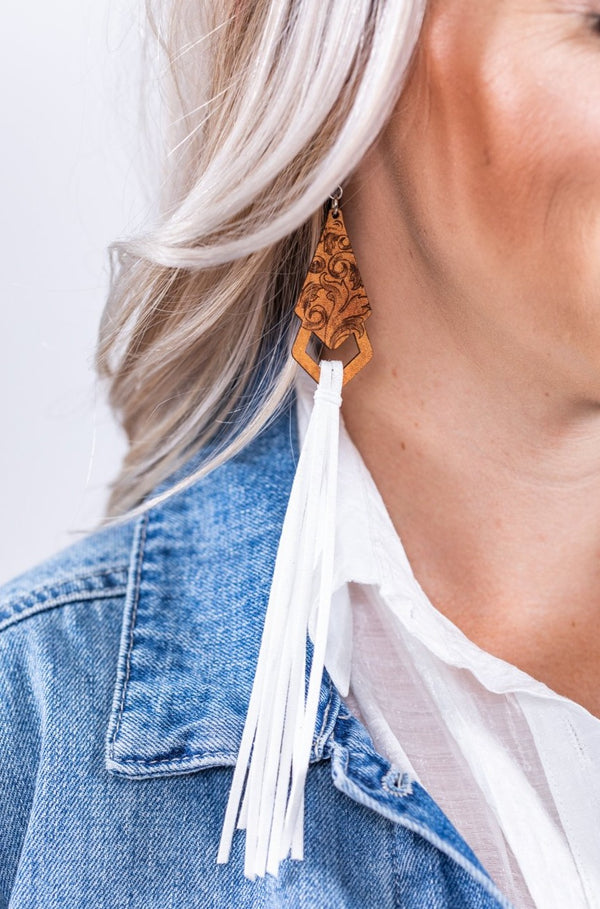 White Midnight Ponderosa Earrings