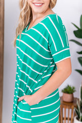 Kelly Green House Striped Maxi Dress