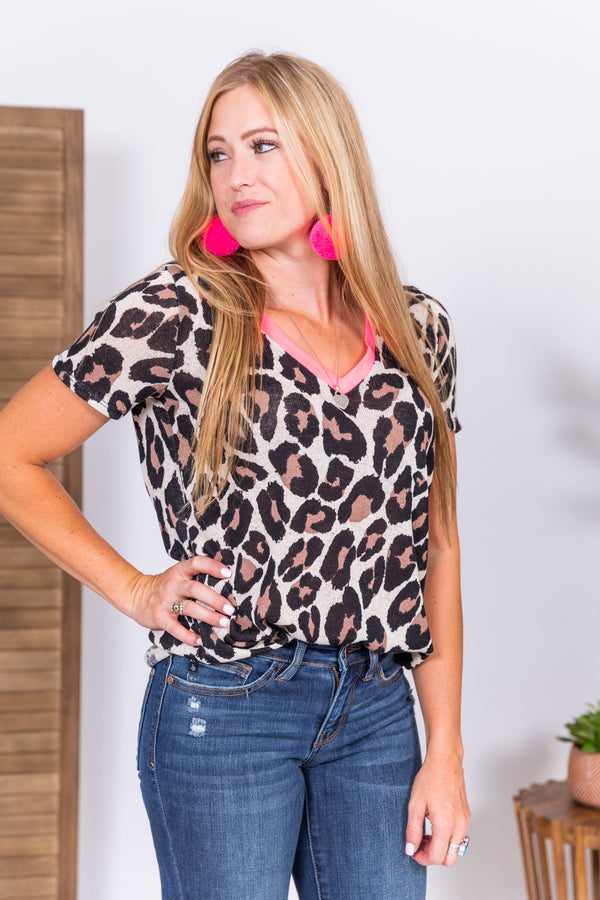 Neon Moon Leopard Basic Top