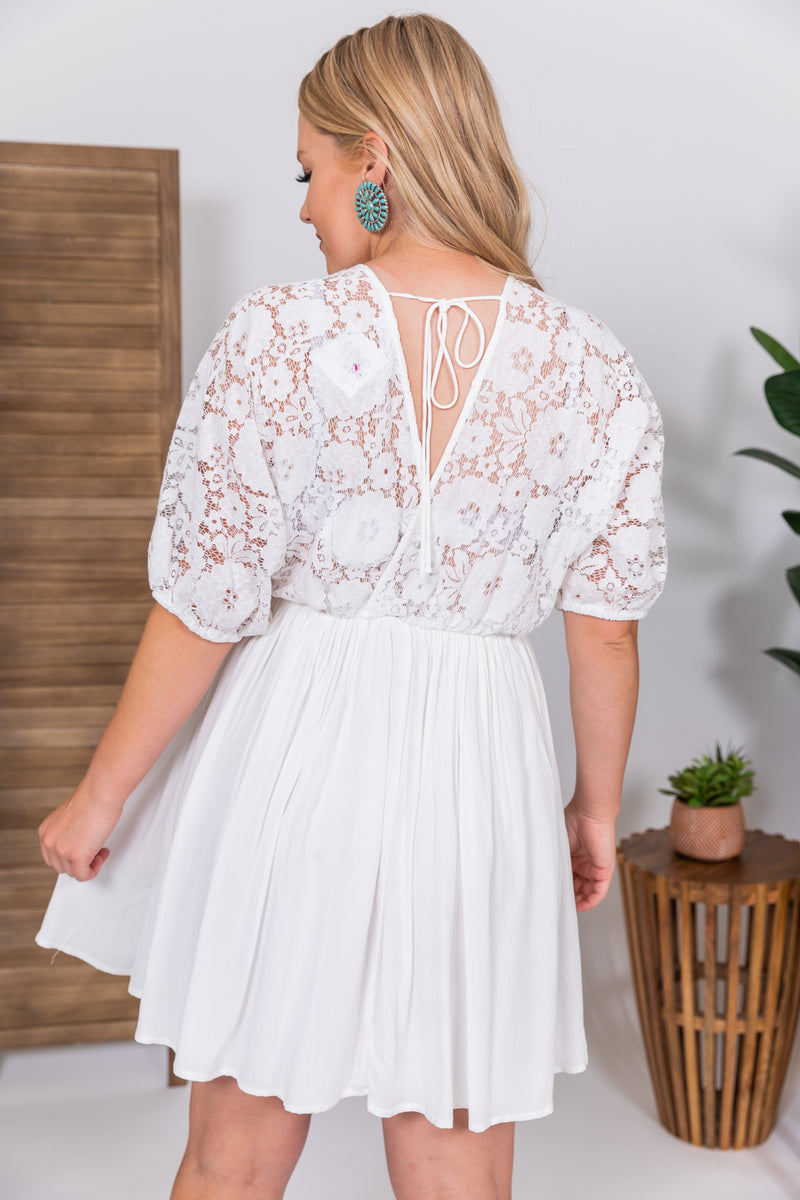 Lovely In Lace Midi Dress