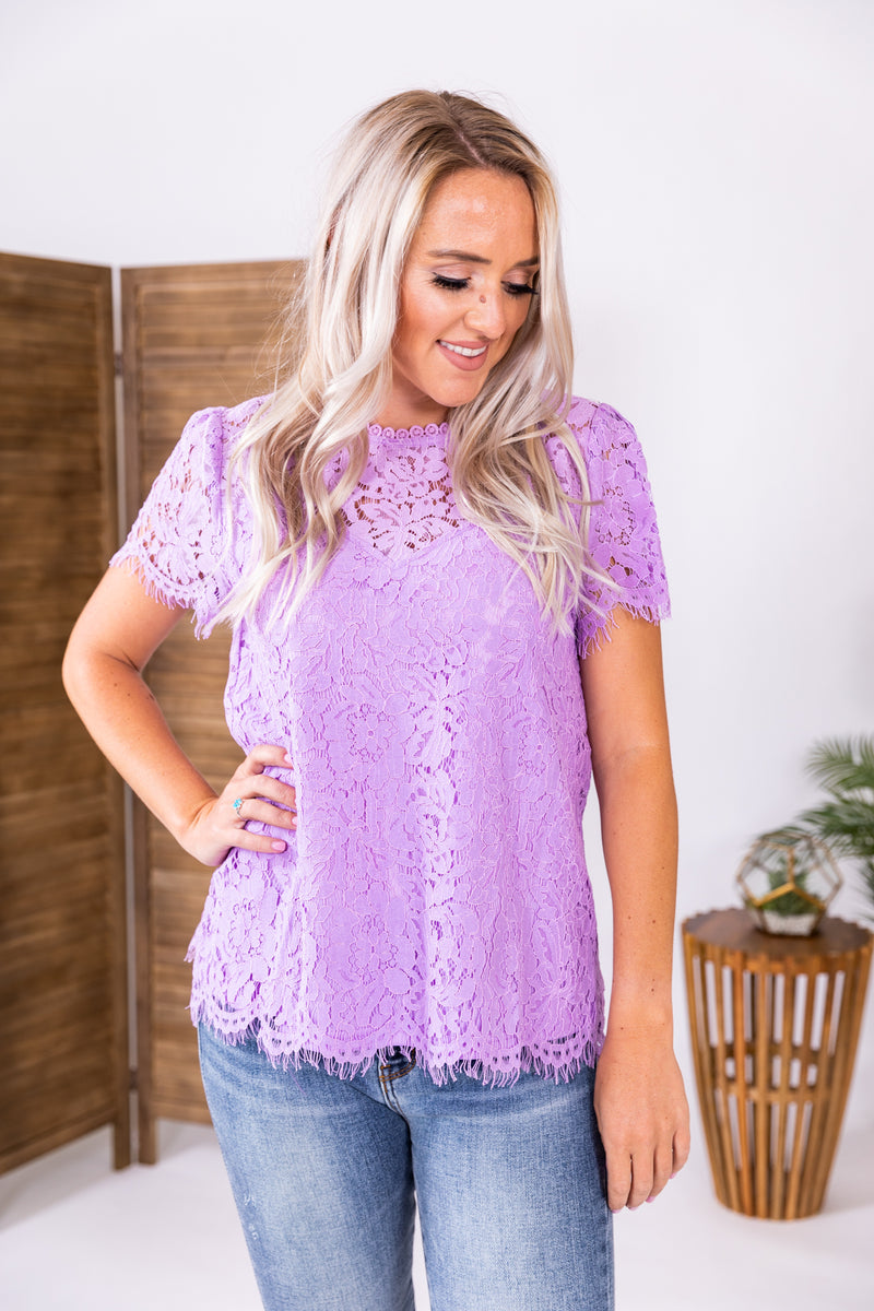 Lovely In Lavender Lace Top