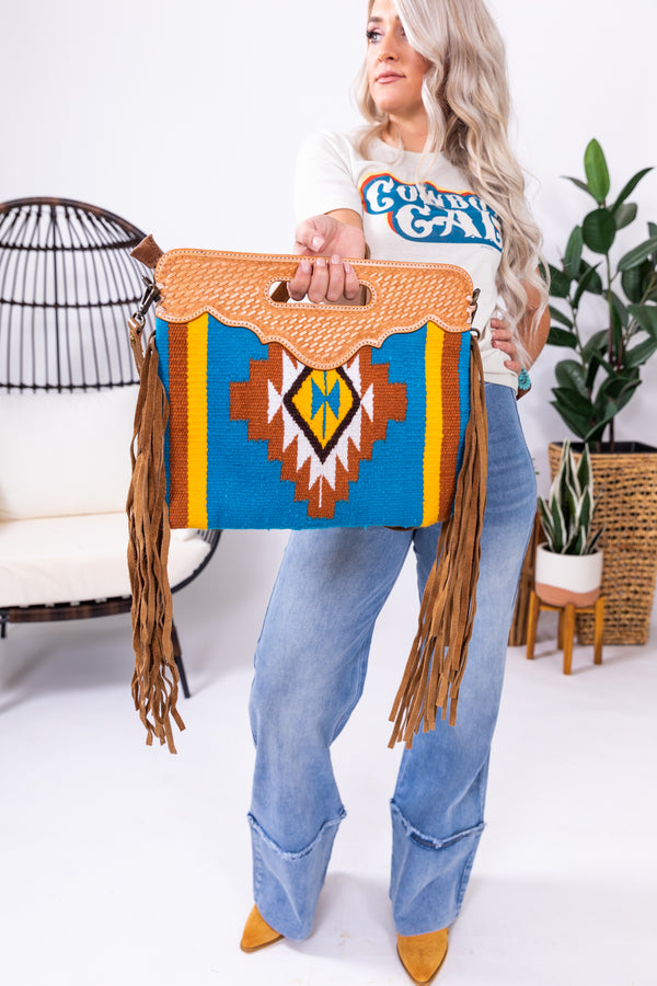 Citrus Heights Saddle Blanket Fringe Bag
