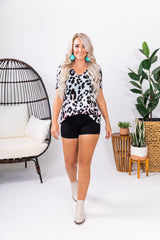 Cotton Candy Ombre Leopard Basic Top
