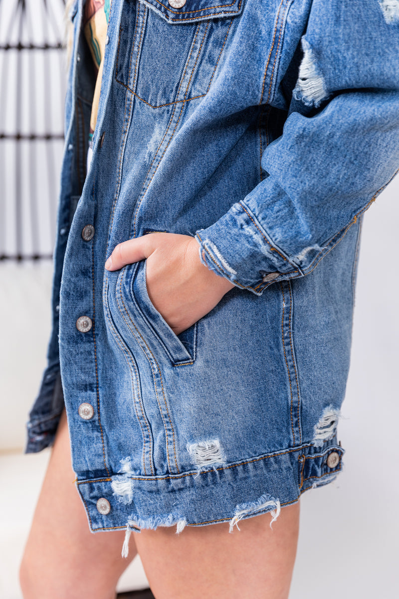 Latest Obsession Oversized Denim Jacket