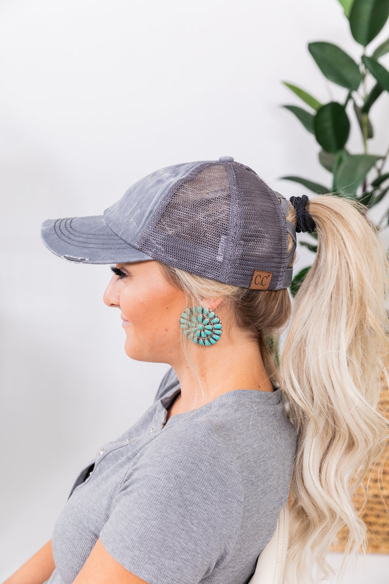 Criss Cross Back CC Ponytail Hats